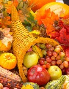 рог изобилия, фрукты, овощи