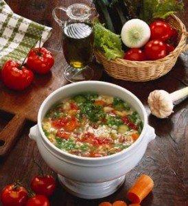 Суп, диета, овощи