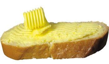 белый хлеб с маслом
